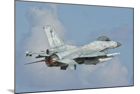 A Hellenic Air Force F-16 Taking Off-Stocktrek Images-Mounted Photographic Print