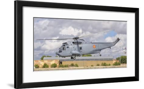 A Spanish Navy Sh-3D Helicopter-Stocktrek Images-Framed Art Print
