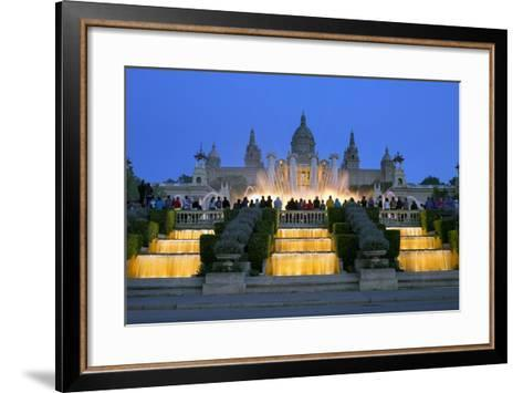 Fountains in Front of the National Museum of Art, Spain-Gavin Hellier-Framed Art Print