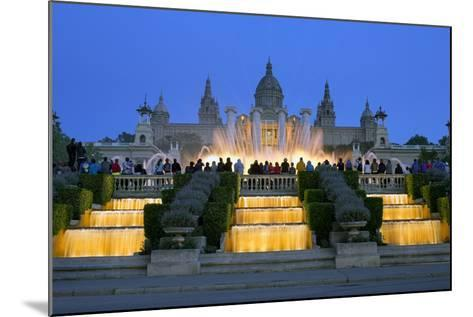 Fountains in Front of the National Museum of Art, Spain-Gavin Hellier-Mounted Photographic Print