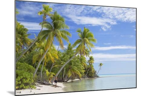 Couple on Beach at Les Sables Roses (Pink Sands), French Polynesia-Ian Trower-Mounted Photographic Print