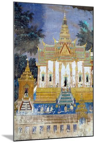 Detail from the Reamker Murals (Khmer Version of the Ramayana), Royal Palace, Phnom Penh, Cambodia-Alex Robinson-Mounted Photographic Print