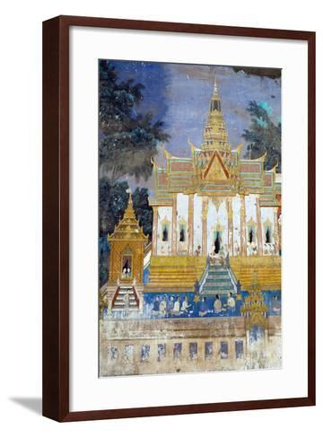 Detail from the Reamker Murals (Khmer Version of the Ramayana), Royal Palace, Phnom Penh, Cambodia-Alex Robinson-Framed Art Print