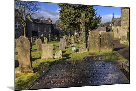 Saxon Cross and Plague Victim's Table Tomb (Catherine Mompesson), Derbyshire-Eleanor Scriven-Mounted Photographic Print