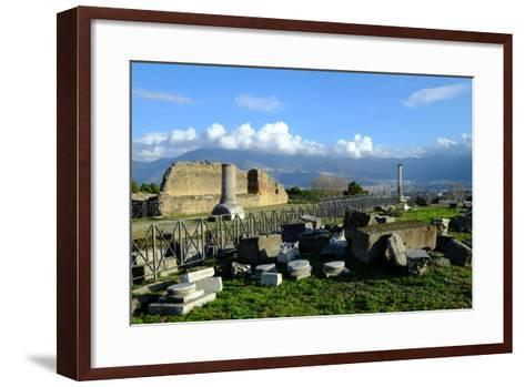 Venus Temple, Pompeii, the Ancient Roman Town Near Naples, Campania, Italy-Carlo Morucchio-Framed Art Print