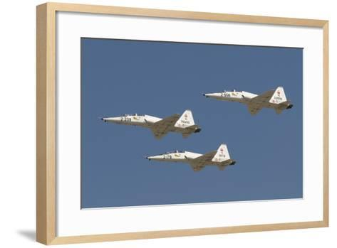 Formation of Turkish Air Force T-38A Talon's over Izmir, Turkey-Stocktrek Images-Framed Art Print