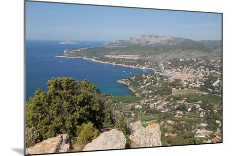 View of the Coastline and the Historic Town of Cassis from a Hilltop, France-Martin Child-Mounted Photographic Print