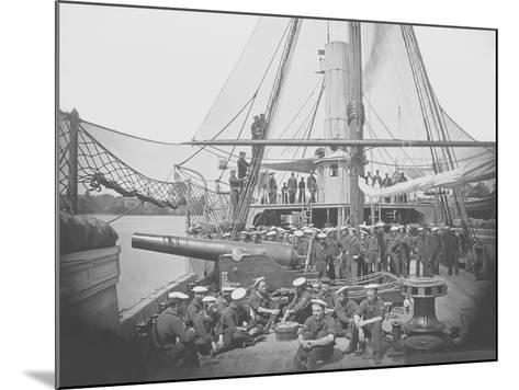 Gunboat Uss Mendota on James River During the American Civil War-Stocktrek Images-Mounted Photographic Print