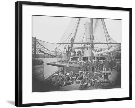 Gunboat Uss Mendota on James River During the American Civil War-Stocktrek Images-Framed Art Print