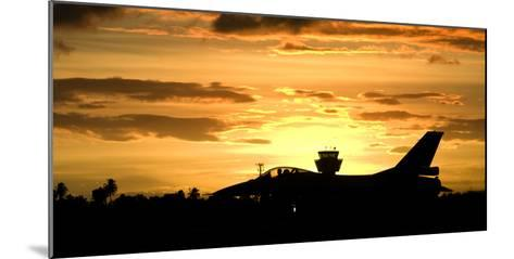 Sunset Landing This Chilean Air Force F-16 Fighting Falcon-Stocktrek Images-Mounted Photographic Print