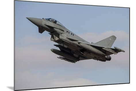 A Royal Air Force Typhoon Fighter Jet Taking Off-Stocktrek Images-Mounted Photographic Print
