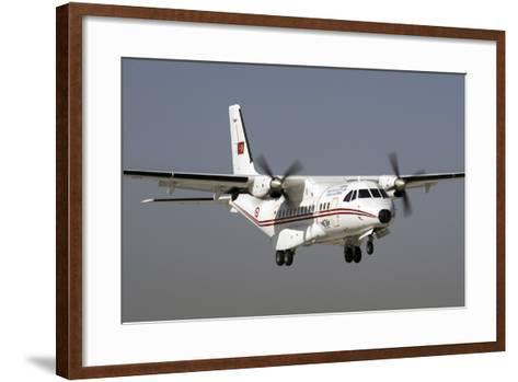 A Turkish Air Force Cn-235M-100 Prepares for Landing-Stocktrek Images-Framed Art Print