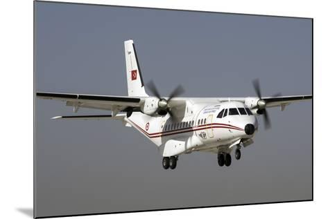 A Turkish Air Force Cn-235M-100 Prepares for Landing-Stocktrek Images-Mounted Photographic Print