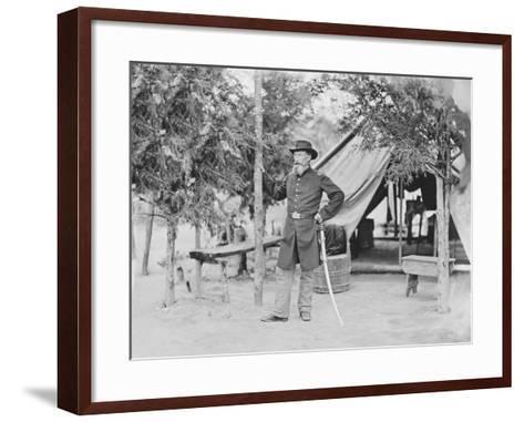 Captain James O'Rourke of the 4th New York Heavy Artillery-Stocktrek Images-Framed Art Print