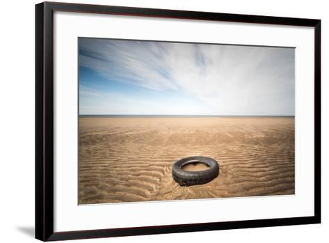 Spare Tyre, Lindesfarne, Northumberland, England, United Kingdom, Europe-Bill Ward-Framed Art Print