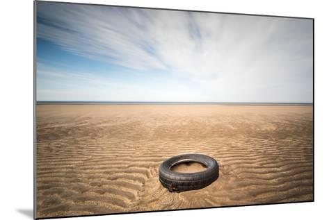 Spare Tyre, Lindesfarne, Northumberland, England, United Kingdom, Europe-Bill Ward-Mounted Photographic Print