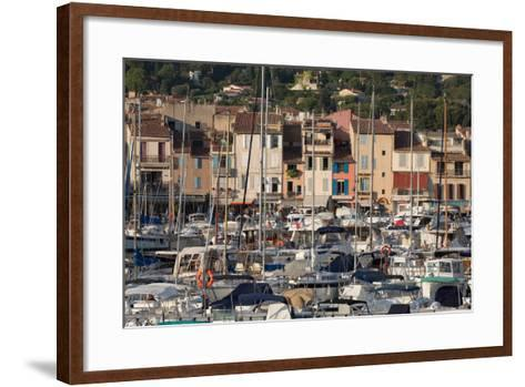 Boats Moored in the Harbour of the Historic Town of Cassis, Cote D'Azur, Provence, France, Europe-Martin Child-Framed Art Print