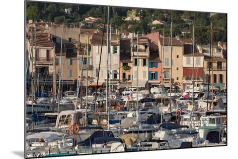 Boats Moored in the Harbour of the Historic Town of Cassis, Cote D'Azur, Provence, France, Europe-Martin Child-Mounted Photographic Print