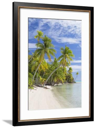 Couple on Beach at Les Sables Roses (Pink Sands), French Polynesia-Ian Trower-Framed Art Print