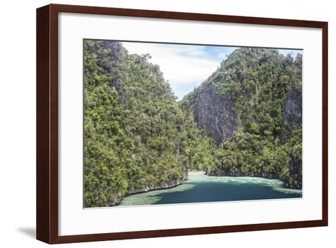 Rugged Limestone Islands Surround Corals Growing in a Gorgeous Lagoon-Stocktrek Images-Framed Art Print