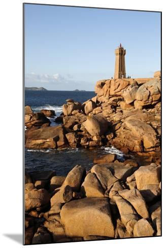 Lighthouse and Pink Rocks at Sunset, Cote De Granit Rose-Stuart Black-Mounted Photographic Print