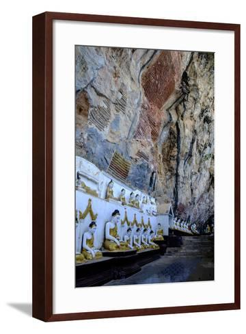Kaw Gon (Kaw Goon) Cave, Dated 7th Century, Hpa An, Kayin State (Karen State), Myanmar (Burma)-Nathalie Cuvelier-Framed Art Print