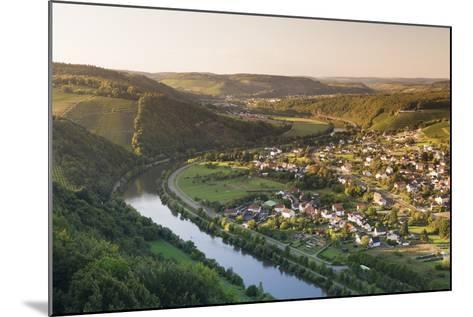 View over the Saar Valley with Saar River Near Serrig, Rhineland-Palatinate, Germany, Europe-Markus Lange-Mounted Photographic Print