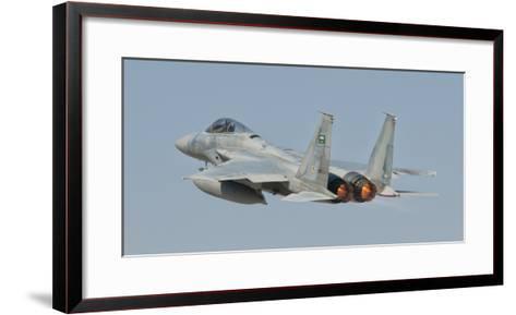A Royal Saudi Air Force F-15 in Flight over Spain-Stocktrek Images-Framed Art Print