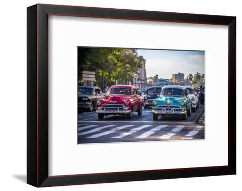 Classic 1950S American Cars, Cuba-Alan Copson-Framed Art Print