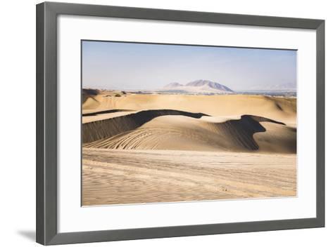 Sand Dunes in the Desert at Huacachina, Ica Region, Peru, South America-Matthew Williams-Ellis-Framed Art Print