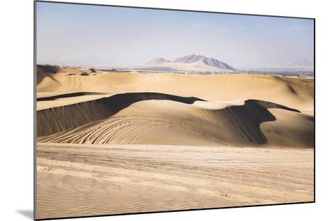 Sand Dunes in the Desert at Huacachina, Ica Region, Peru, South America-Matthew Williams-Ellis-Mounted Photographic Print