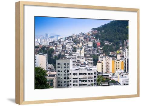 Tabajaras Favela, Rio De Janeiro, Brazil, South America-Alex Robinson-Framed Art Print