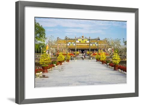 Thai Hoa Palace (Hall of Supreme Harmony) Beyond the Bridge of Golden Water, Vietnam-Jason Langley-Framed Art Print
