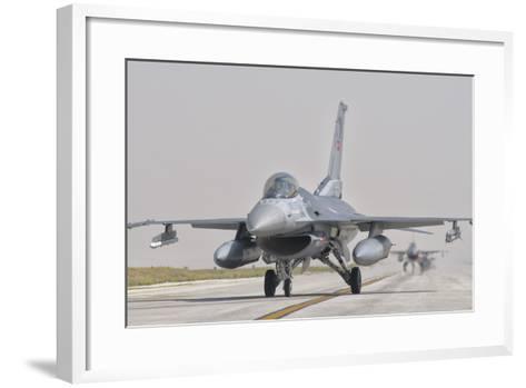 Turkish Air Force F-16 During Exercise Anatolian Eagle-Stocktrek Images-Framed Art Print
