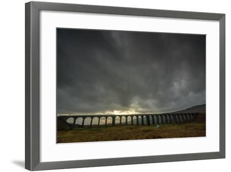 Ribblehead Viaduct, Sunset, Yorkshire Dales National Park, Yorkshire, England, United Kingdom-Bill Ward-Framed Art Print