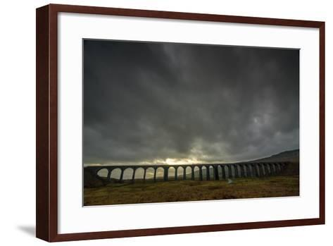 Ribblehead Viaduct, Sunset, Yorkshire Dales National Park, Yorkshire, England, United Kingdom-Bill Ward-Framed Art Print