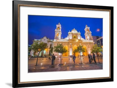 Salta Cathedral at Night, Argentina-Matthew Williams-Ellis-Framed Art Print
