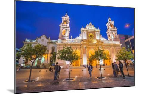 Salta Cathedral at Night, Argentina-Matthew Williams-Ellis-Mounted Photographic Print
