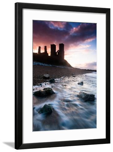 Sunset at Reculver Tower, Kent, England, United Kingdom, Europe-Bill Ward-Framed Art Print