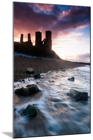 Sunset at Reculver Tower, Kent, England, United Kingdom, Europe-Bill Ward-Mounted Photographic Print