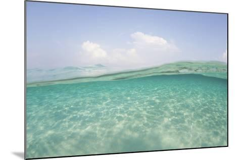 Sunlight Ripples across a Shallow Sand Flat in Indonesia-Stocktrek Images-Mounted Photographic Print