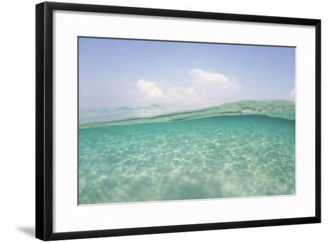 Sunlight Ripples across a Shallow Sand Flat in Indonesia-Stocktrek Images-Framed Art Print