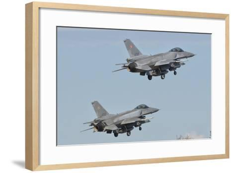 A Pair of Polish Air Force F-16 Block 52+ Taking Off-Stocktrek Images-Framed Art Print