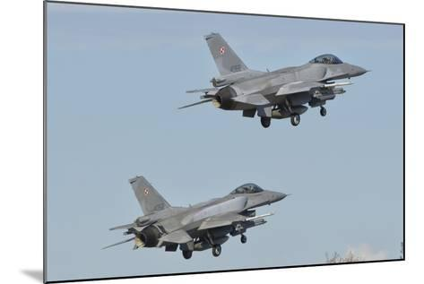 A Pair of Polish Air Force F-16 Block 52+ Taking Off-Stocktrek Images-Mounted Photographic Print
