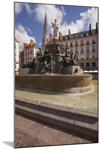The Fountain in Place Royale in the Centre of Nantes, Loire-Atlantique, France, Europe-Julian Elliott-Mounted Photographic Print