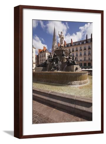 The Fountain in Place Royale in the Centre of Nantes, Loire-Atlantique, France, Europe-Julian Elliott-Framed Art Print