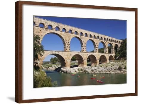 Pont Du Gard, Roman Aqueduct, River Gard, Languedoc-Roussillon, Southern France, France-Markus Lange-Framed Art Print