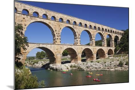 Pont Du Gard, Roman Aqueduct, River Gard, Languedoc-Roussillon, Southern France, France-Markus Lange-Mounted Photographic Print