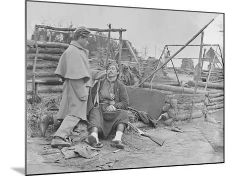 American Civil War Scene of a Deserted Camp and Wounded Zouave Soldier-Stocktrek Images-Mounted Photographic Print