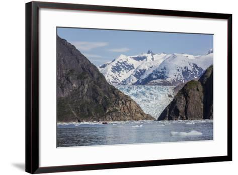 Scenic Views of the South Sawyer Glacier in Tracy Arm-Fords Terror Wilderness Area, Alaska-Michael Nolan-Framed Art Print